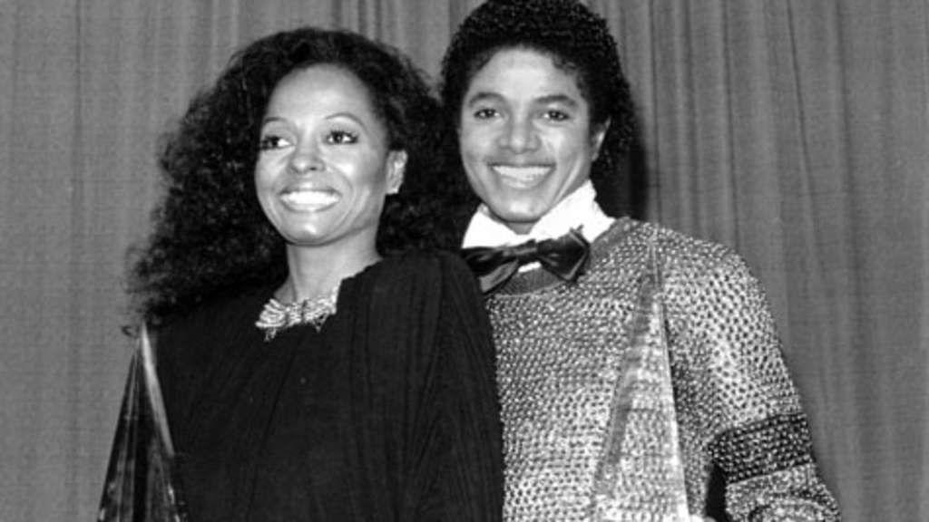 Diana Ross und Michael Jackson 1981 in Los Angeles bei den American Music Awards.