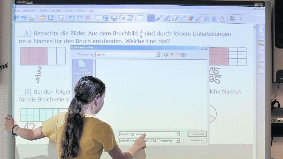 Digitale Tafeln erobern Schulklassen in Alsfeld    Verf u00fchrerische Medientechnik hat ihren Preis