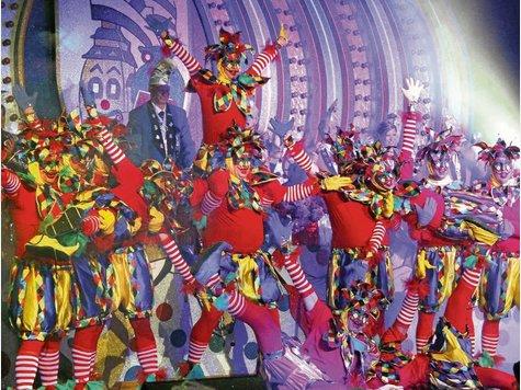 Die Tanzkinder des TGS-Miniballetts nahmen die Besucher mit auf die Piste.