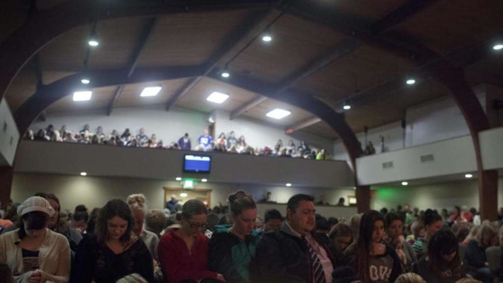 Trauergottesdienst in Maryville im US-Bundesstaat Washington. Foto: Matt McKnight