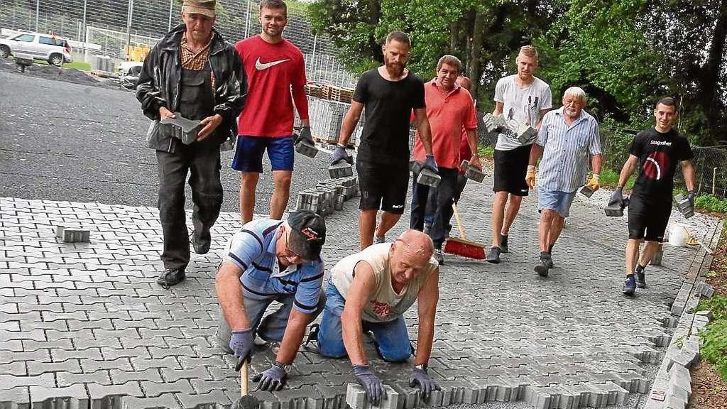 Sportfreunde seligenstadt gro er einsatz zur parkplatz for Seligenstadt schwimmbad