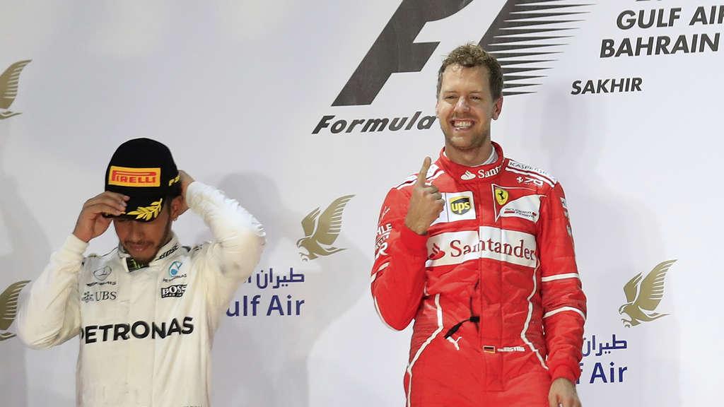 Formel 1: Vettel setzt sich in Bahrain durch
