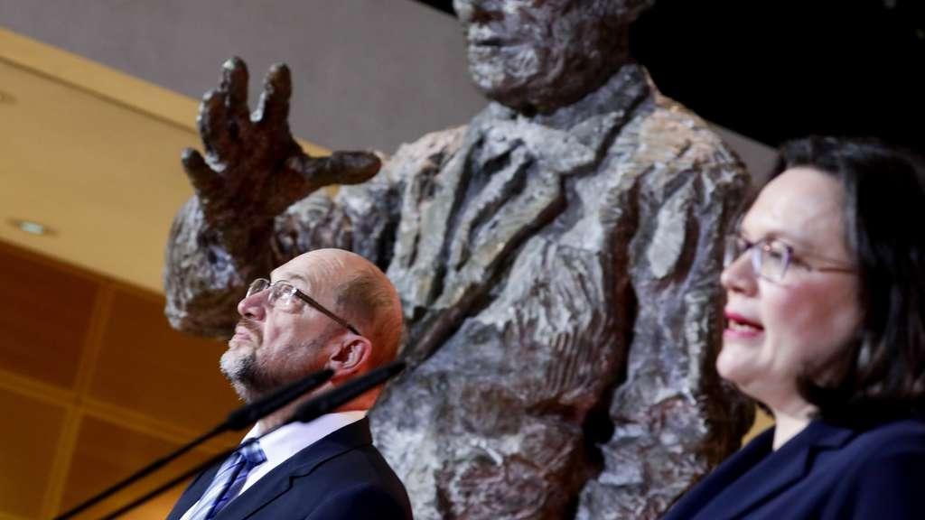Schulz tritt zurück Andrea Nahles als SPD-Vorsitzende nominiert