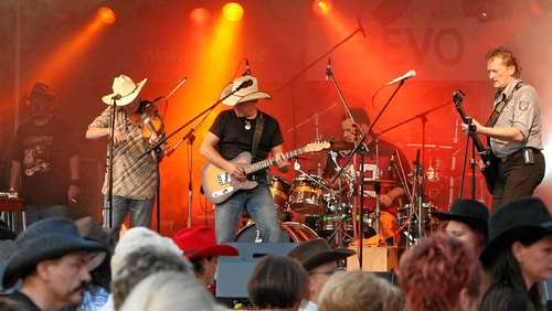 Country-Musik beim Western-Festival