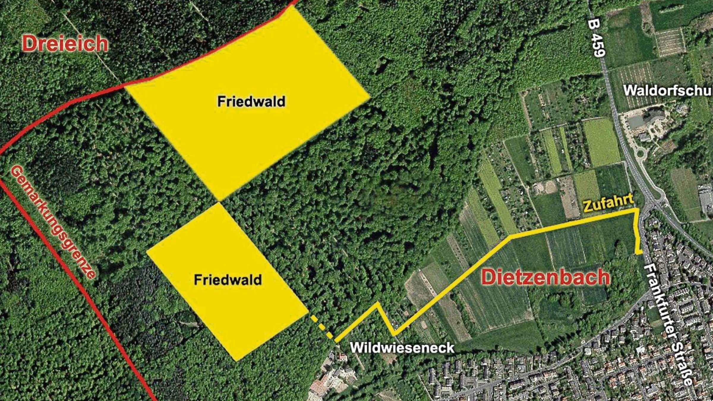 Friedwald Soll Im Westen Von Dietzenbach Entstehen Eine