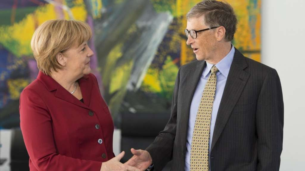 Angela Merkel, Bill Gates