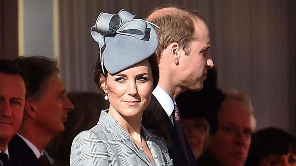 Prinzessin Catherine und Prinz William beim Empfang in London. Foto: Andy Rain