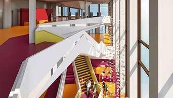 Viel Farbe Und Lichtspiele: So Soll Der Aufgang Zur Neuen Stadtbibliothek  Im Zweiten Stock Des
