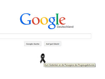 Germanwings, Absturz, Google, Trauerschleife