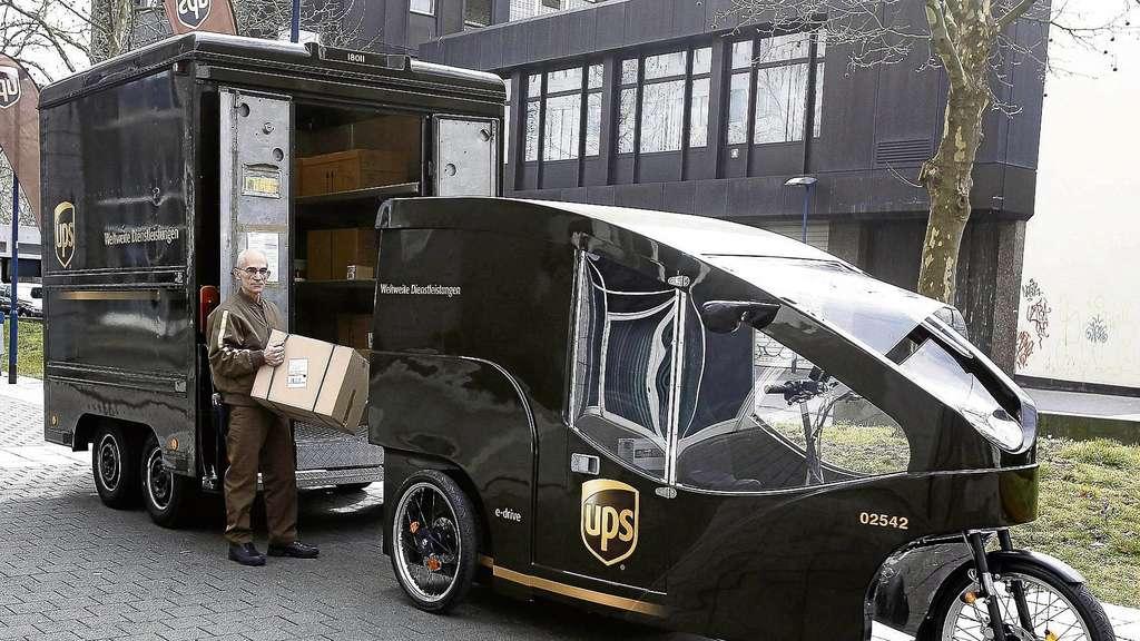 stadt und paketdienst ups stellen pilotprojekt f r die fu g ngerzone vor offenbach. Black Bedroom Furniture Sets. Home Design Ideas