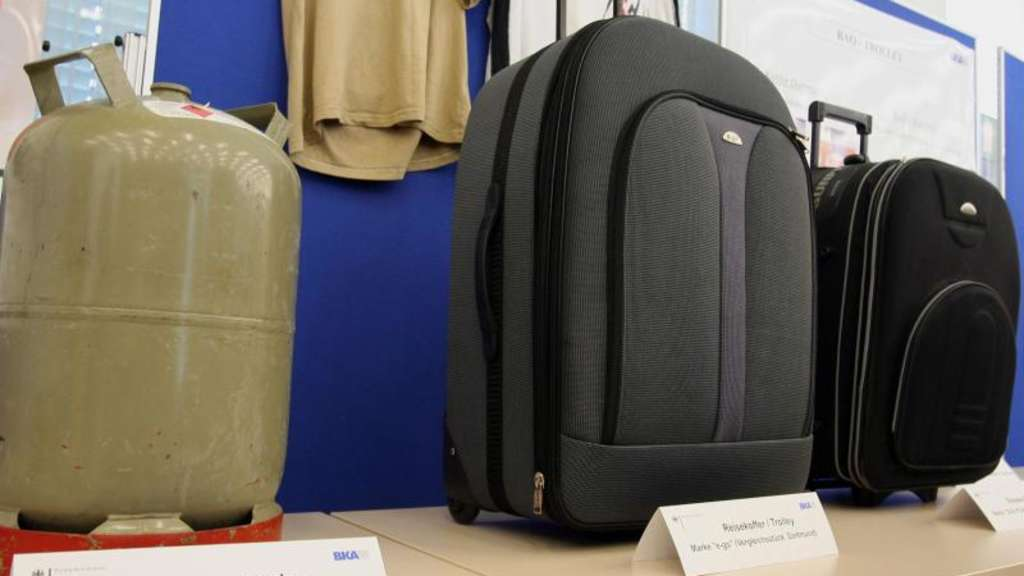 In Köln sichergestellte Kofferbomben.