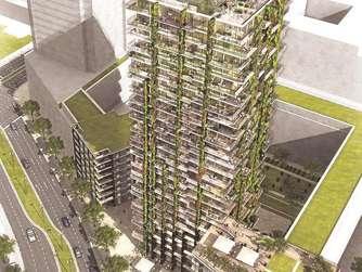 h ngende g rten f r tower 90 in frankfurt frankfurt. Black Bedroom Furniture Sets. Home Design Ideas