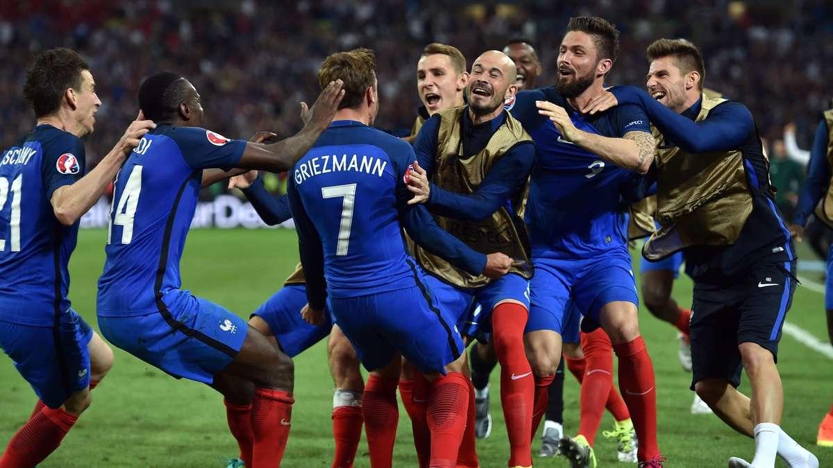 Aufstellung Frankreich Albanien
