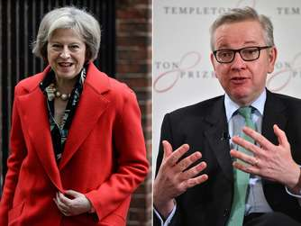 Theresa May und Michael Gove.