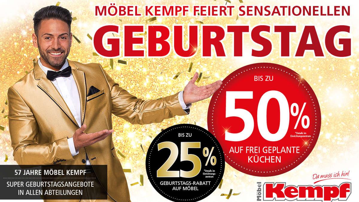 Möbel Kempf Feiert 57 Geburtstag Feiern Sie Jetzt Mit Wohnen