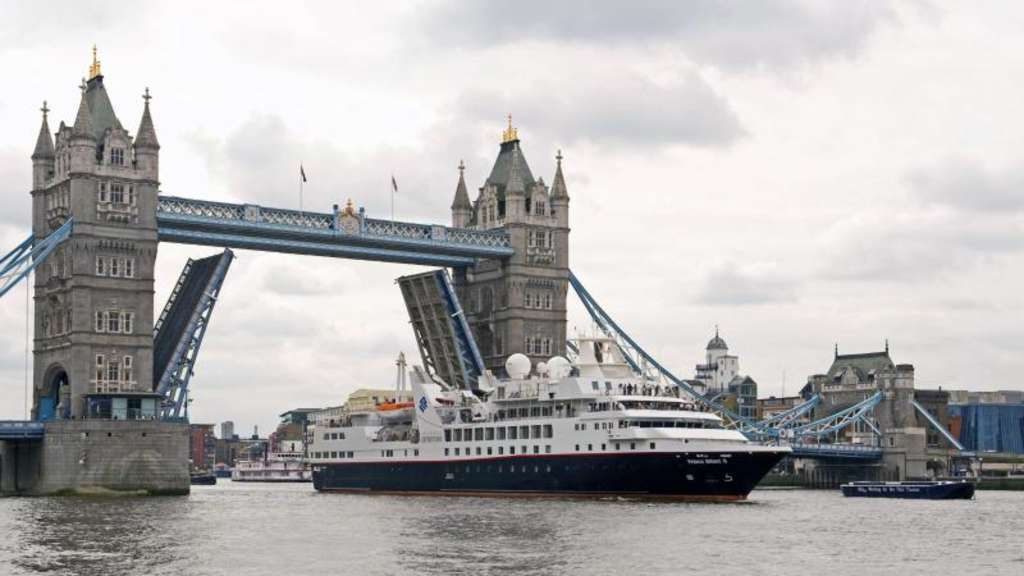 "Die ""Prince Albert II"" der Reederei Silversea Cruises in London. Foto: Silversea Cruises"
