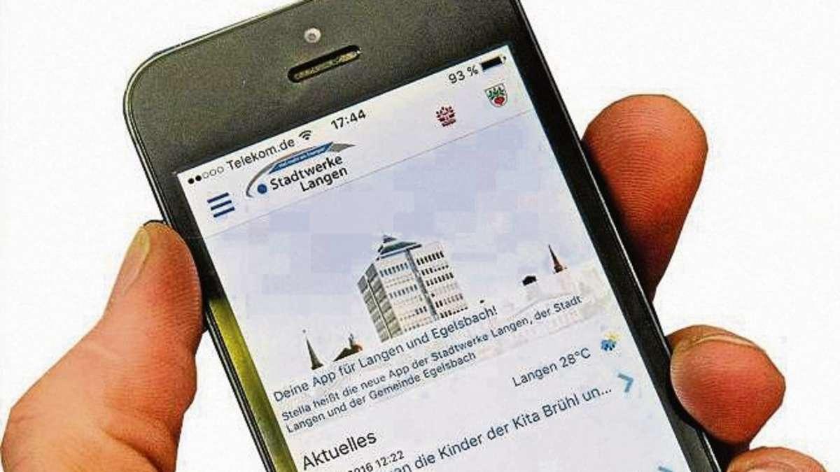 Mit Der Neuen App Der Stadtwerke Für Langen Und Egelsbach Das Lokale