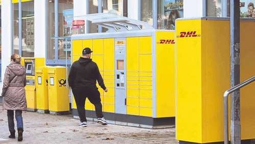 Packstation mit 112 Fächern am Kanaltorplatz