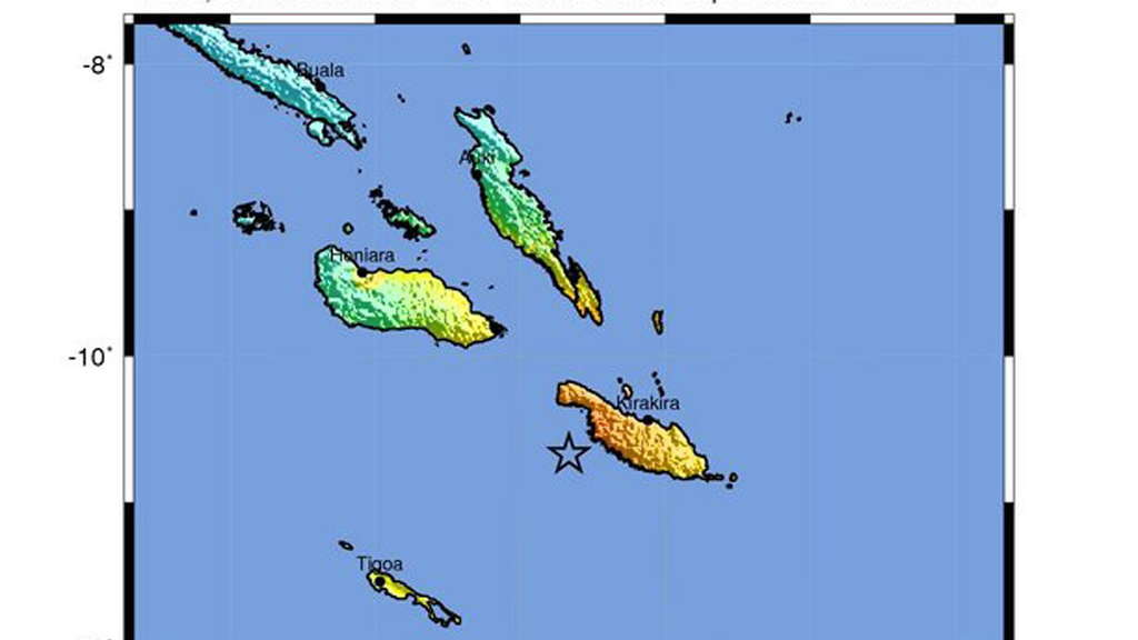 7.7 magnitude earthquake off Solomon Islands
