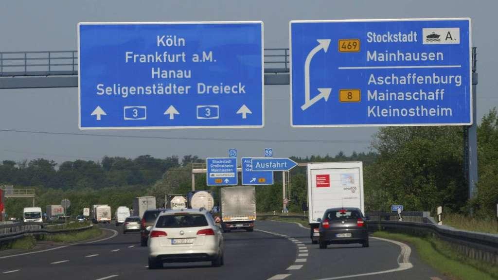 Staumeldung A3 Richtung Würzburg