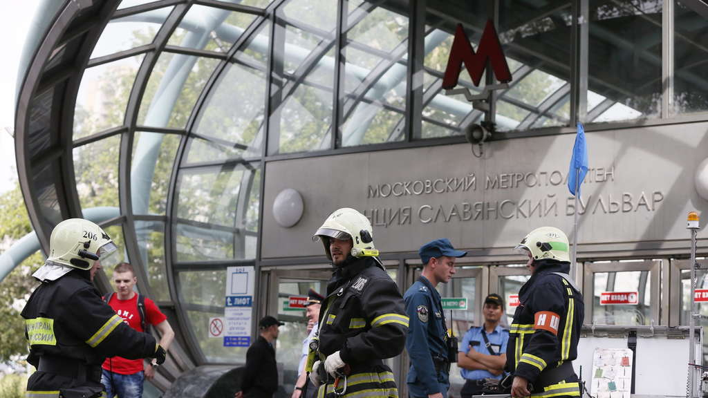 Metro accident in Moscow