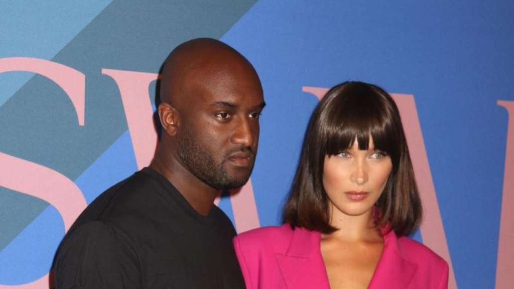 "Model Bella Hadid und Designer Virgil Abloh bei der Verleihung der ""CFDA Fashion Awards"". Foto: Nancy Kaszerman"