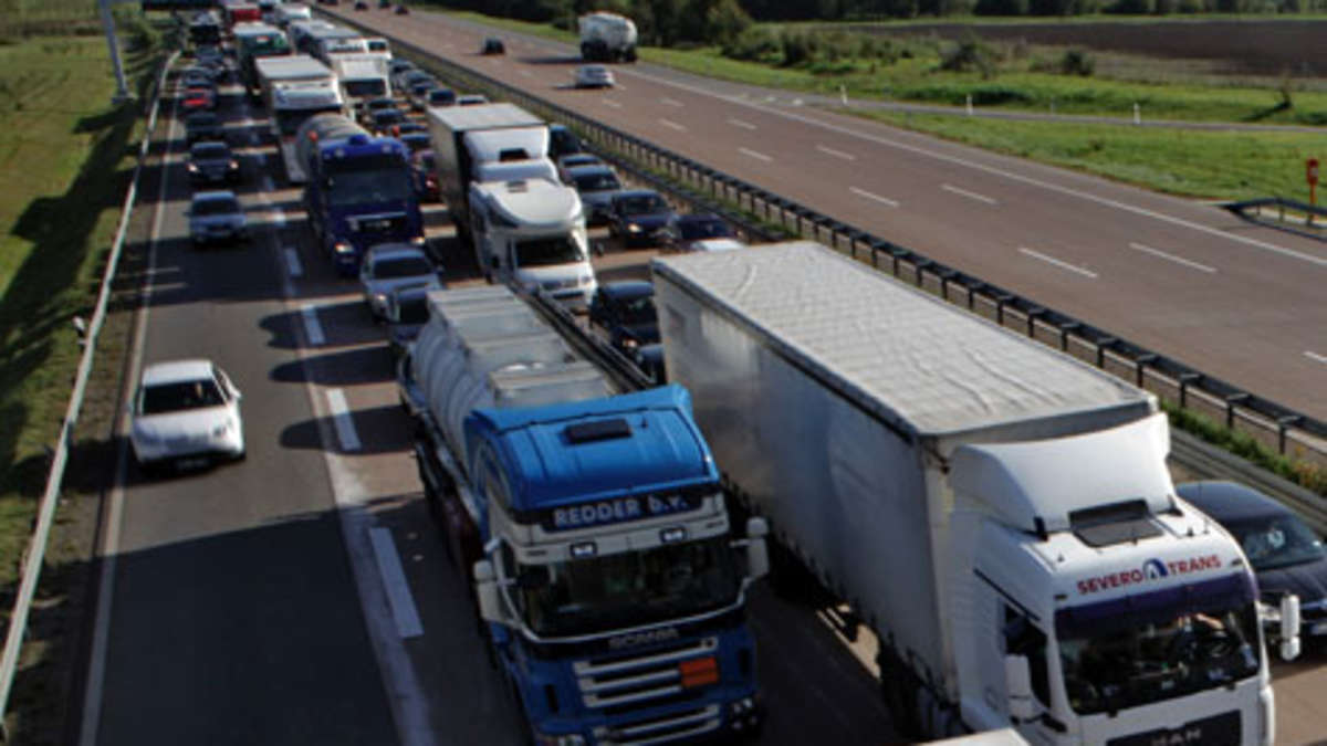 Stau Autobahn Hessen