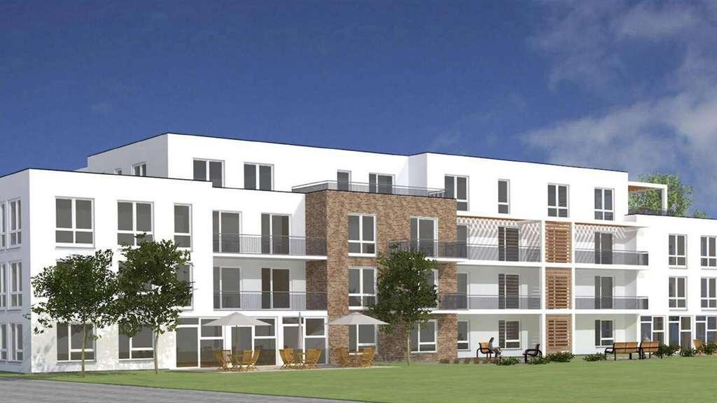 In Einem Jahr Soll Der Längliche Neubau Mit 16 Pflegeplätzen Und 30  Wohnungen Am Horst