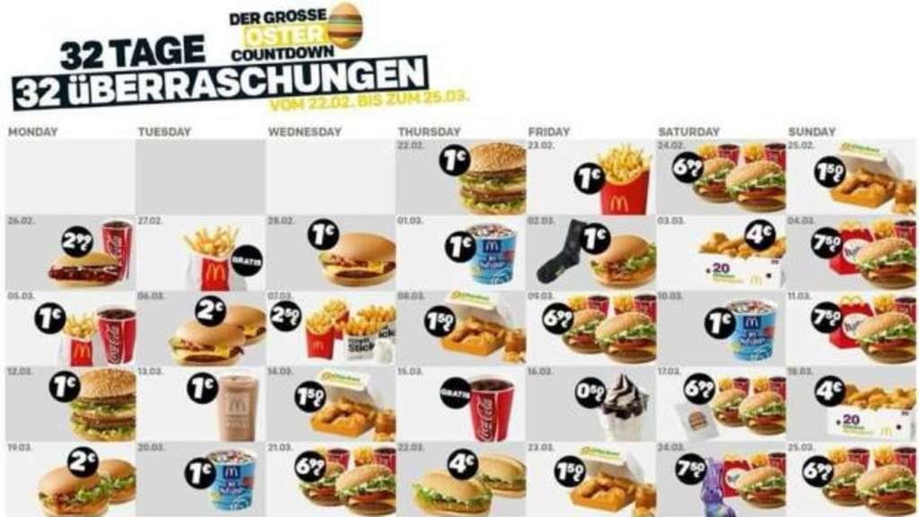Mc Donalds Oster-Countdown