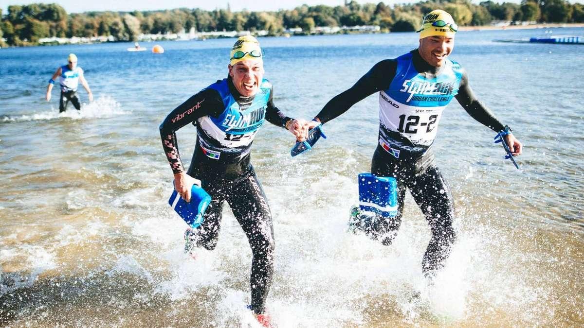 Im neopren durch die w lder trendsport swimrun in frankfurt lokalsport - Freibad eschersheim ...