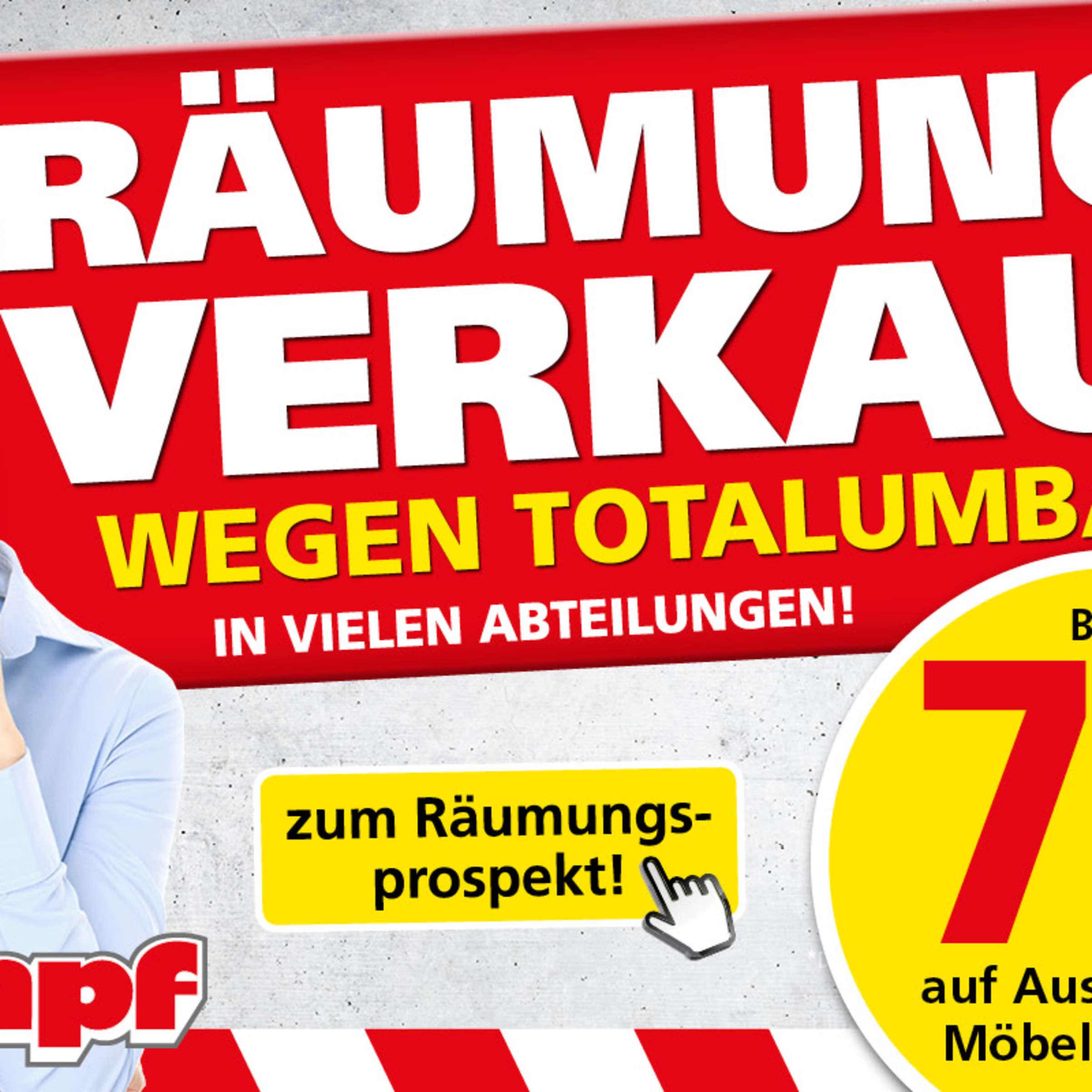 Grosser Raumungsverkauf Bei Mobel Kempf In Aschaffenburg Und Bad Konig Wohnen