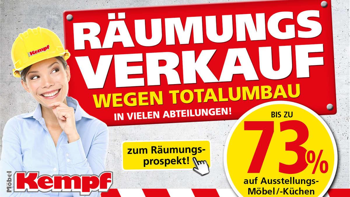 Großer Räumungsverkauf Bei Möbel Kempf In Aschaffenburg Und Bad