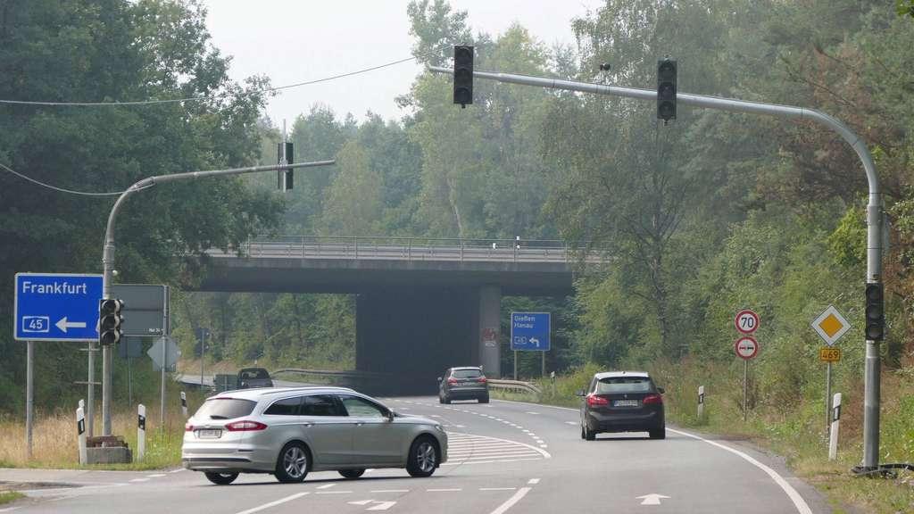 Stau A45 Richtung Frankfurt