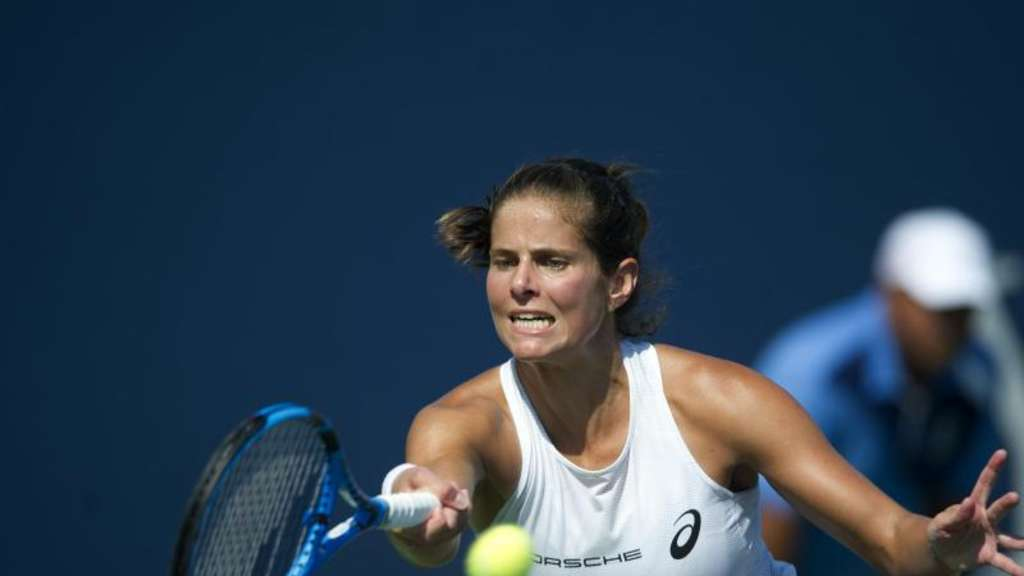 Julia Görges bestreitet aus deutscher Sicht den Auftakt bei den US Open. Foto: Michael Cummo/Hearst Connecticut Media/AP