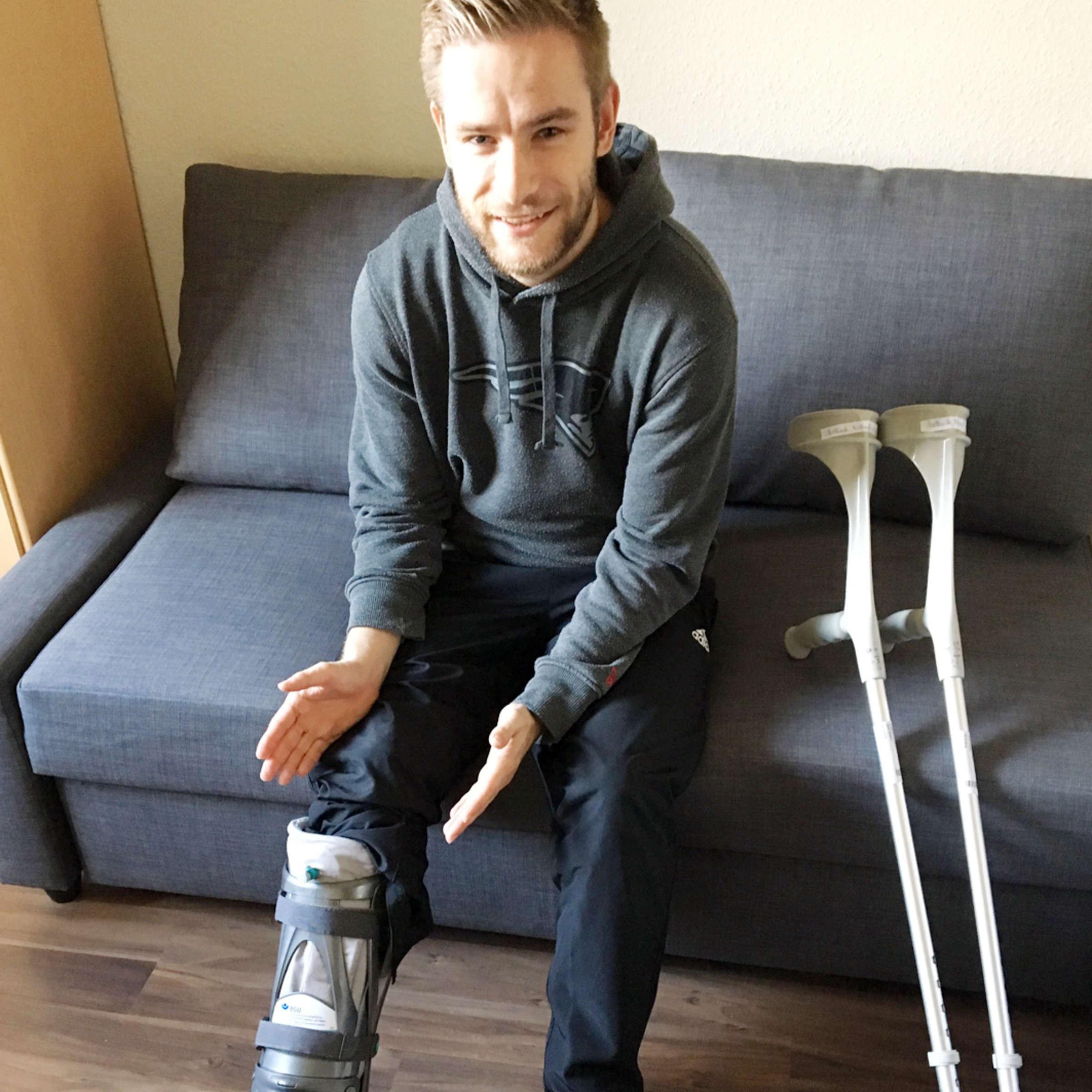 Ohne mit laufen vacoped krücken 61. Tag
