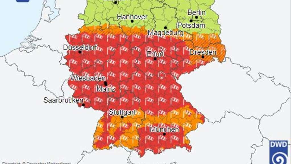 Unwetterwarnung Fürth