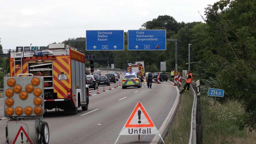 Unfall A66 Langenselbold