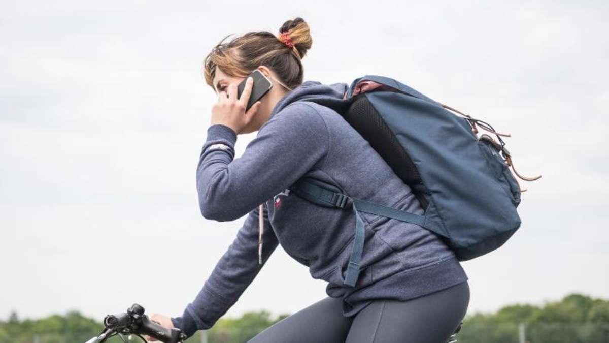 Telefonieren Auf Dem Fahrrad